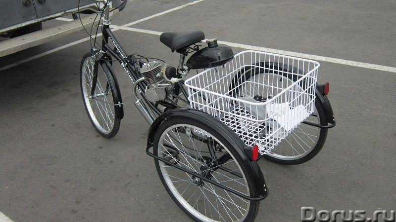 Грузовой трехколесный велосипед с мотором cb-80 - Мотоциклы, мопеды - В сельской местности, на даче..., фото 1